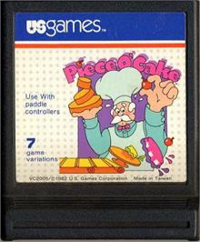 Cartridge artwork for Piece o' Cake on the Atari 2600.