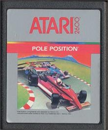 Cartridge artwork for Pole Position on the Atari 2600.