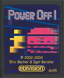 Cartridge artwork for Power Off! on the Atari 2600.