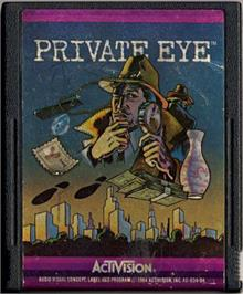 Cartridge artwork for Private Eye on the Atari 2600.