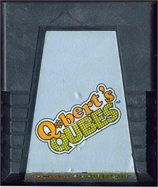 Cartridge artwork for Q*Bert's Qubes on the Atari 2600.
