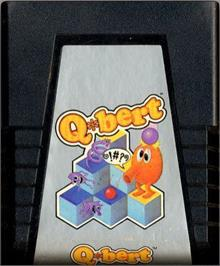 Cartridge artwork for Q*bert on the Atari 2600.
