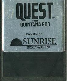 Cartridge artwork for Quest for Quintana Roo on the Atari 2600.