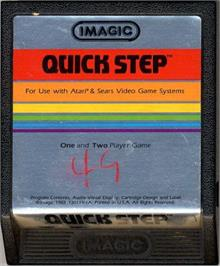 Cartridge artwork for Quick Step on the Atari 2600.