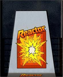 Cartridge artwork for Reactor on the Atari 2600.