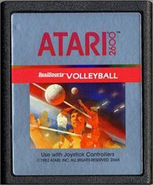 Cartridge artwork for RealSports Volleyball on the Atari 2600.