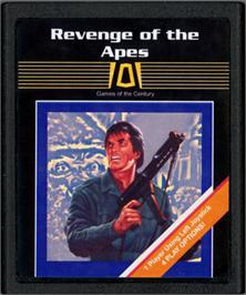 Cartridge artwork for Revenge of the Apes on the Atari 2600.