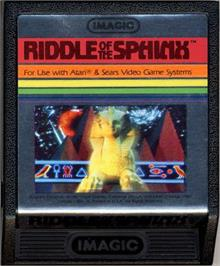 Cartridge artwork for Riddle of the Sphinx on the Atari 2600.