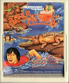 Cartridge artwork for River Patrol on the Atari 2600.