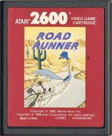 Cartridge artwork for Road Runner on the Atari 2600.