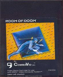 Cartridge artwork for Room of Doom on the Atari 2600.