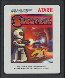 Cartridge artwork for Saboteur on the Atari 2600.