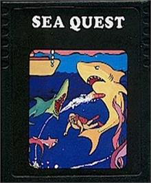 Cartridge artwork for Seaquest on the Atari 2600.