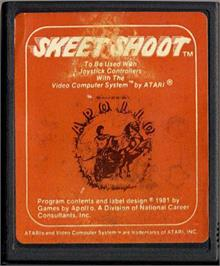 Cartridge artwork for Skeet Shoot on the Atari 2600.