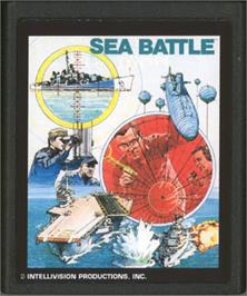 Cartridge artwork for Space Battle on the Atari 2600.