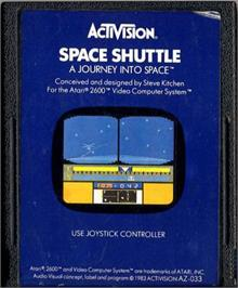 Cartridge artwork for Space Shuttle: A Journey into Space on the Atari 2600.
