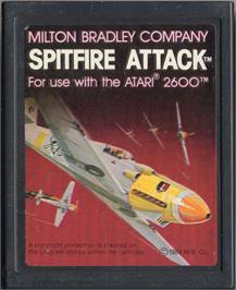 Cartridge artwork for Spitfire Attack on the Atari 2600.