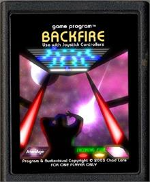 Cartridge artwork for Star Fire on the Atari 2600.