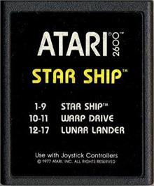 Cartridge artwork for Star Ship on the Atari 2600.