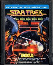 Cartridge artwork for Star Trek: Strategic Operations Simulator on the Atari 2600.