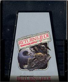 Cartridge artwork for Star Wars: Return of the Jedi - Death Star Battle on the Atari 2600.