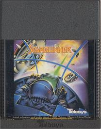 Cartridge artwork for Stargunner on the Atari 2600.