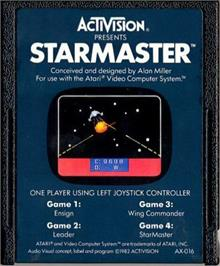 Cartridge artwork for Starmaster on the Atari 2600.