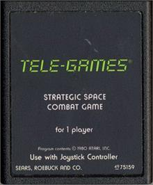 Cartridge artwork for Stellar Track on the Atari 2600.