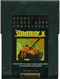 Cartridge artwork for Strategy X on the Atari 2600.