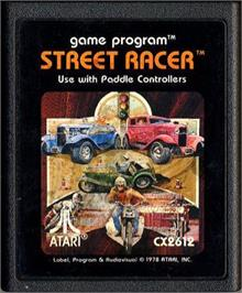 Cartridge artwork for Street Racer on the Atari 2600.