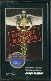 Cartridge artwork for Suicide Mission on the Atari 2600.