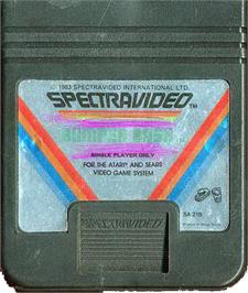 Cartridge artwork for Super Breakout on the Atari 2600.