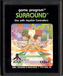 Cartridge artwork for Surround on the Atari 2600.