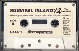 Cartridge artwork for Survival Island on the Atari 2600.