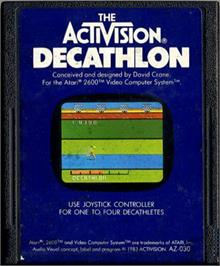 Cartridge artwork for The Activision Decathlon on the Atari 2600.