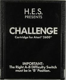 Cartridge artwork for The Challenge of NEXAR on the Atari 2600.