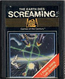 Cartridge artwork for The Earth Dies Screaming on the Atari 2600.