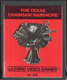 Cartridge artwork for The Texas Chainsaw Massacre on the Atari 2600.