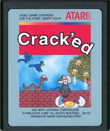 Cartridge artwork for Track & Field on the Atari 2600.
