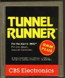 Cartridge artwork for Tunnel Runner on the Atari 2600.