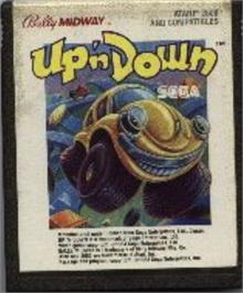 Cartridge artwork for Up 'n Down on the Atari 2600.