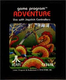 Cartridge artwork for Venture on the Atari 2600.