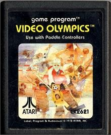 Cartridge artwork for Video Olympics on the Atari 2600.