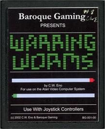 Cartridge artwork for Warring Worms on the Atari 2600.