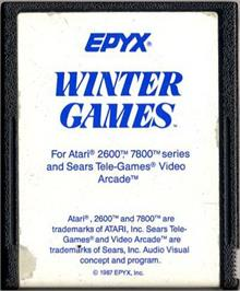 Cartridge artwork for Winter Games on the Atari 2600.