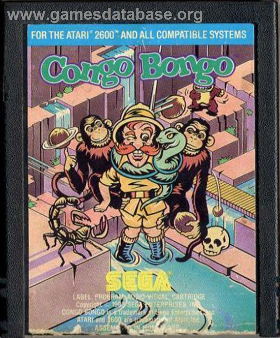 Congo Bongo - Atari 2600 - Artwork - Cartridge