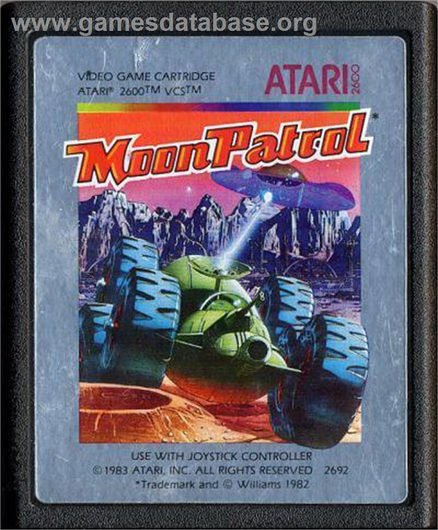 Moon Patrol - Atari 2600 - Artwork - Cartridge