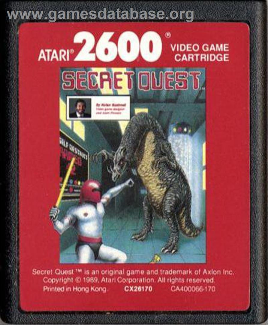 Secret Quest - Atari 2600 - Artwork - Cartridge