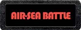 Top of cartridge artwork for Air-Sea Battle on the Atari 2600.
