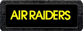 Top of cartridge artwork for Air Raiders on the Atari 2600.